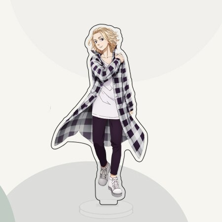 15cm Anime Tokyo Revengers Ryuguji Ken Hanagaki Takemichi Acrylic Figure Stand Model Plate Desktop Decor Toy 2.jpg 640x640 2 - Tokyo Revengers Merch