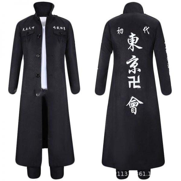 Anime Tokyo Revengers Draken Cosplay Costume Ryuguuji Ken Role Play Suit Black Long Sleeve Overcoat Full 1 - Tokyo Revengers Merch