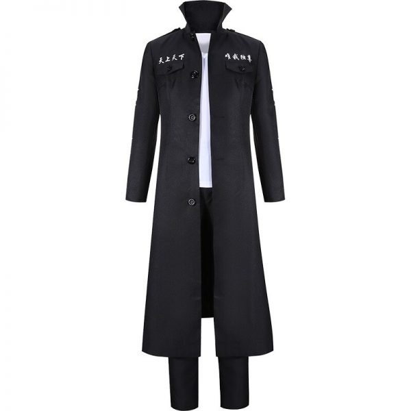Anime Tokyo Revengers Draken Cosplay Costume Ryuguuji Ken Role Play Suit Black Long Sleeve Overcoat Full 4 - Tokyo Revengers Merch